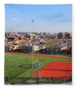 A Washington View From Cardoza High School Fleece Blanket