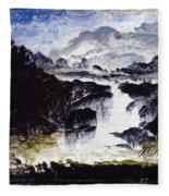 A Waterfall Fleece Blanket