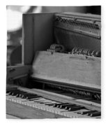 A Weathered Piano Fleece Blanket