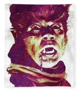 A Werewolf In London Fleece Blanket