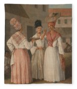 A West Indian Flower Girl And Two Other Free Women Of Color Fleece Blanket