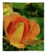 A Wet Rose  Fleece Blanket