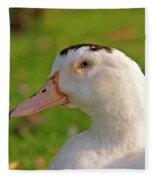 A White Duck, Side View Fleece Blanket