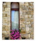 A Window In Florence Fleece Blanket