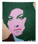 A J Winehouse Fleece Blanket