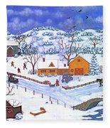 A Winter Evening Fleece Blanket