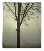 A Winter's Day In The Fog Fleece Blanket