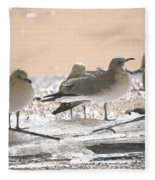 A Winter's Day Passing Bye Fleece Blanket