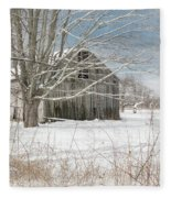 A Winters Day Square Fleece Blanket