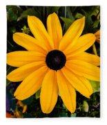 A Yellow Beauty Fleece Blanket