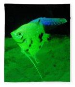 A Yellow Fish  Fleece Blanket