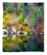 A Yellow Lake Calm Fleece Blanket