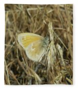A Yellow Moth  Fleece Blanket