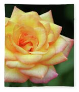 A Yellow Rose Fleece Blanket