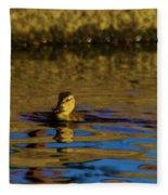A Young Duckling Fleece Blanket