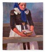 A Young Girl Fleece Blanket