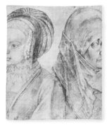 A Young Girl Of Cologne And Dbcrer Wife 1520 Fleece Blanket