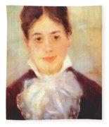 A Young Woman 1875 Fleece Blanket