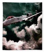 A10 Thunderbolt In Flight Fleece Blanket