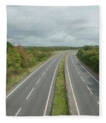 A27 Dual Carriageway Totally Clear Of Traffic. Fleece Blanket