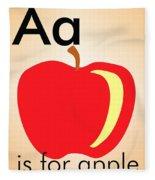 Aa Is For Apple Fleece Blanket