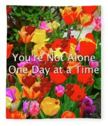 Aa One Day At A Time Fleece Blanket