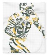 Aaron Rodgers Green Bay Packers Pixel Art 22 Fleece Blanket