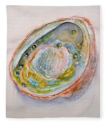Abalone Study #2 Fleece Blanket