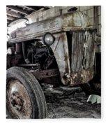 Abanded Tractor 3 Fleece Blanket