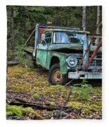 Abandoned Alaskan Logging Truck Fleece Blanket