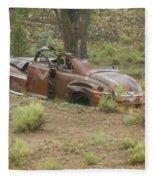 Abandoned Antique Car Fleece Blanket