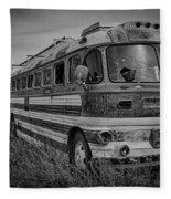 Abandoned Bus Fleece Blanket