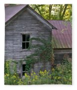 Abandoned Farmhouse On Stacy Fork Fleece Blanket
