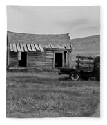Abandoned Ford Truck And Shed Fleece Blanket