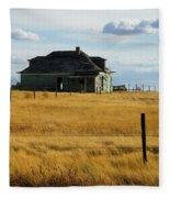 Abandoned Homestead Saskatchewan Fleece Blanket