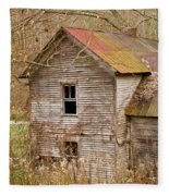 Abandoned House With Colorful Roof Fleece Blanket