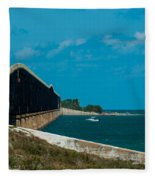 Abandoned Keys Bridge Fleece Blanket