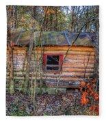 Abandoned Log Cabin Fleece Blanket