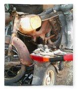 Abandoned Motorbike  Fleece Blanket
