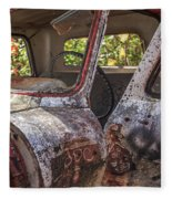 Abandoned Old Truck Newport New Hampshire Fleece Blanket