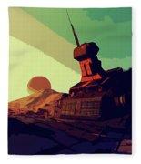 Abandoned On An Alien World Fleece Blanket