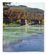 Abandoned Railroad Bridge Fleece Blanket