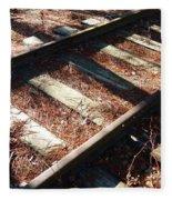 Abandoned Railtracks Fleece Blanket