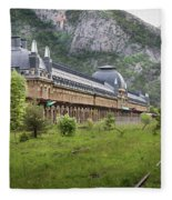 Abandoned Side Of The Canfranc International Railway Station Fleece Blanket
