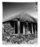Abandoned Stone House Fleece Blanket