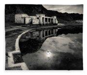 Abandoned Swimming Pool Fleece Blanket
