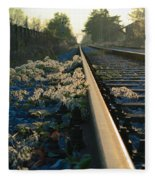 Abandoned Tracks Fleece Blanket