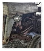 Abandoned Tractor Fleece Blanket