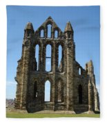 Abbey At Whitby  Fleece Blanket