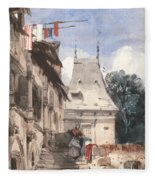 Abbey St-amand, Rouen Fleece Blanket